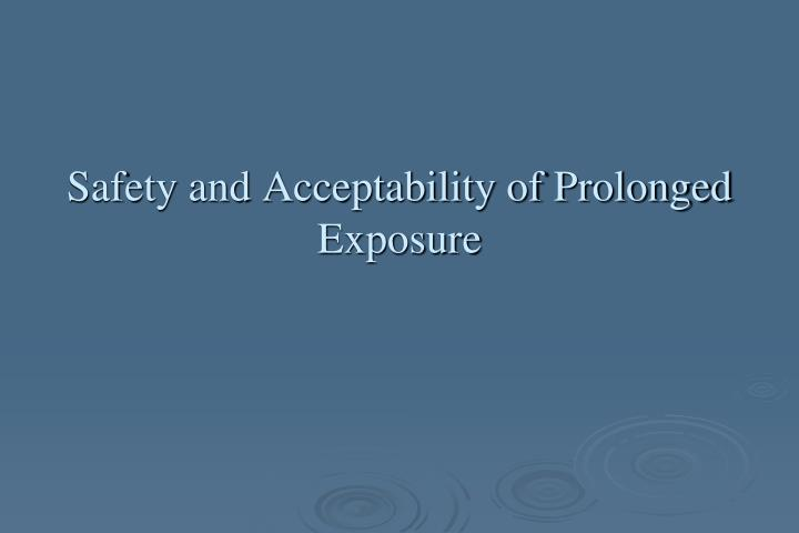 Safety and Acceptability of Prolonged Exposure