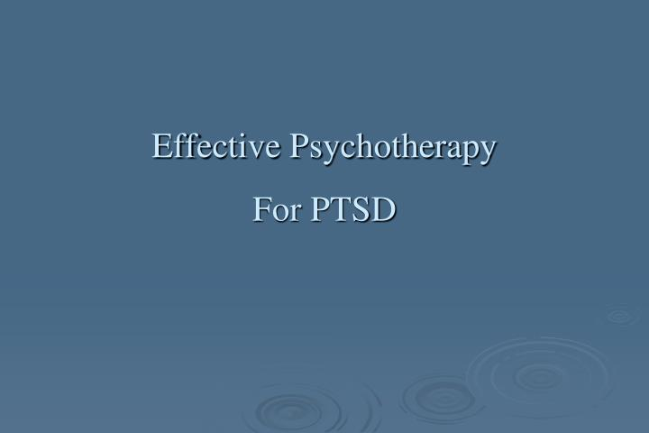 Effective Psychotherapy