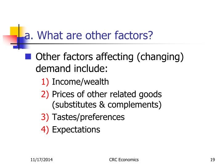 a. What are other factors?