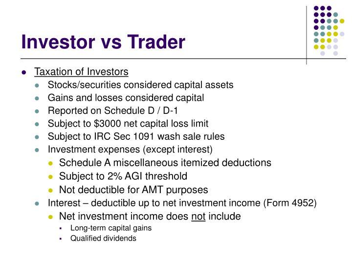 Investor vs Trader