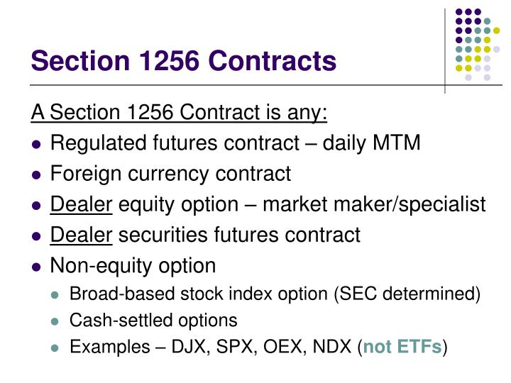 Section 1256 Contracts