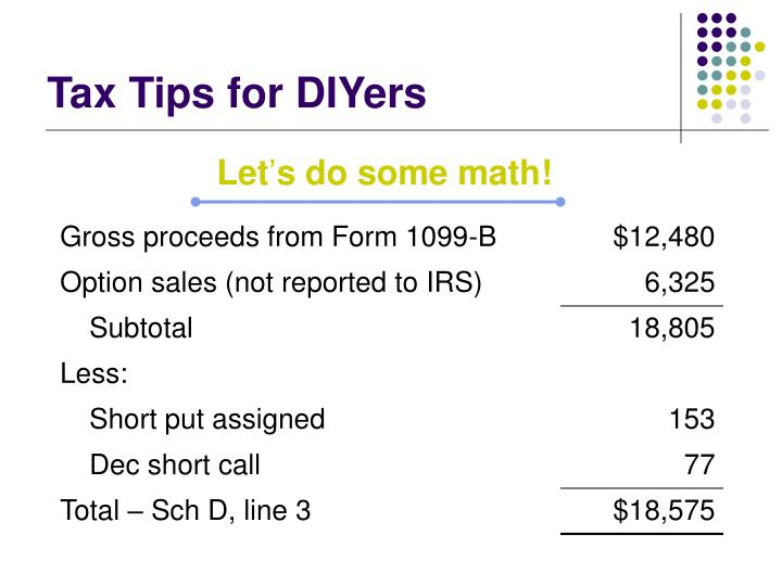 Tax Tips for DIYers