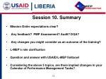 session 10 summary