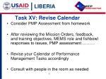 task xv revise calendar