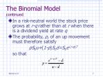 the binomial model continued