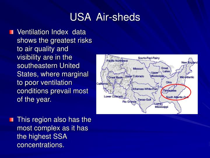 USA  Air-sheds