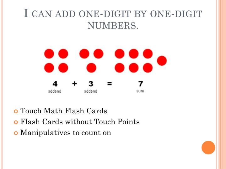 I can add one-digit by one-digit numbers