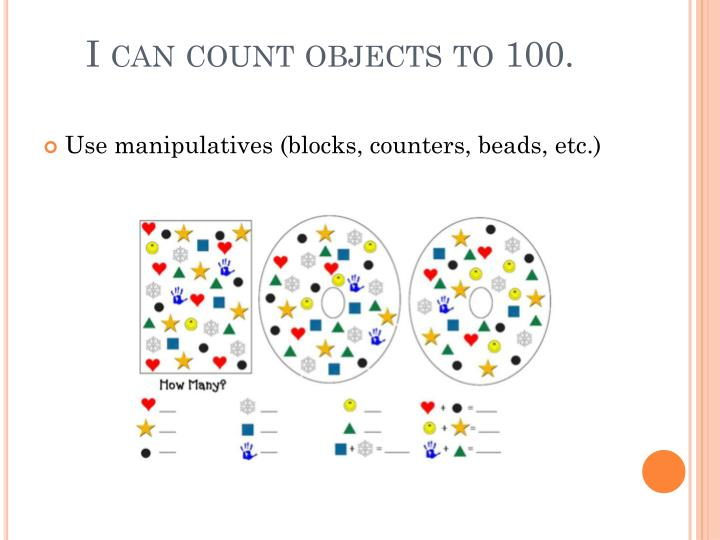 I can count objects to 100.