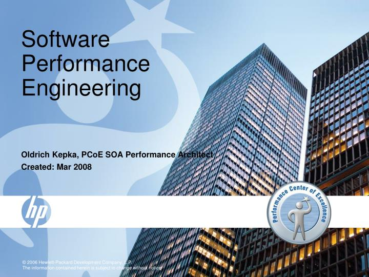 software performance engineering