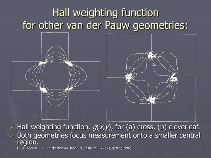 Hall weighting function