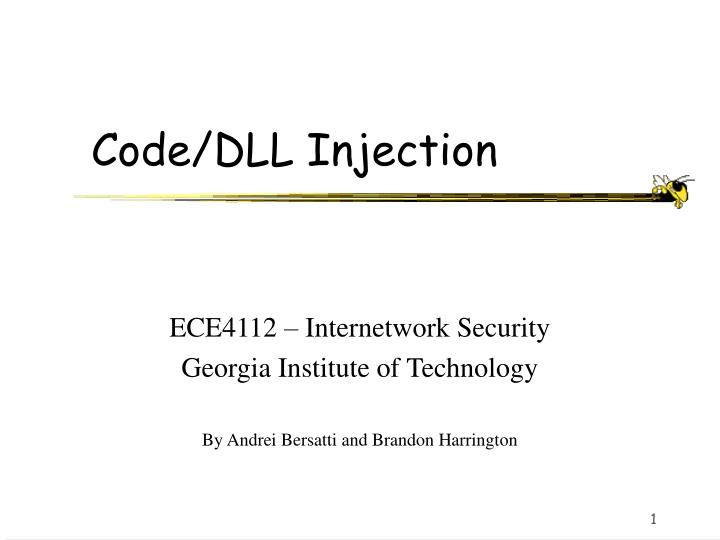 code dll injection