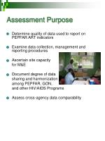 assessment purpose
