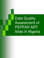 data quality assessment of pepfar art sites in nigeria