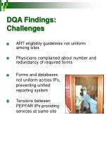 dqa findings challenges