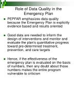 role of data quality in the emergency plan