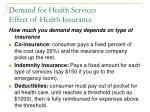 demand for health services effect of health insurance