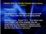 i really want to tell my friends about jesus lesson 5