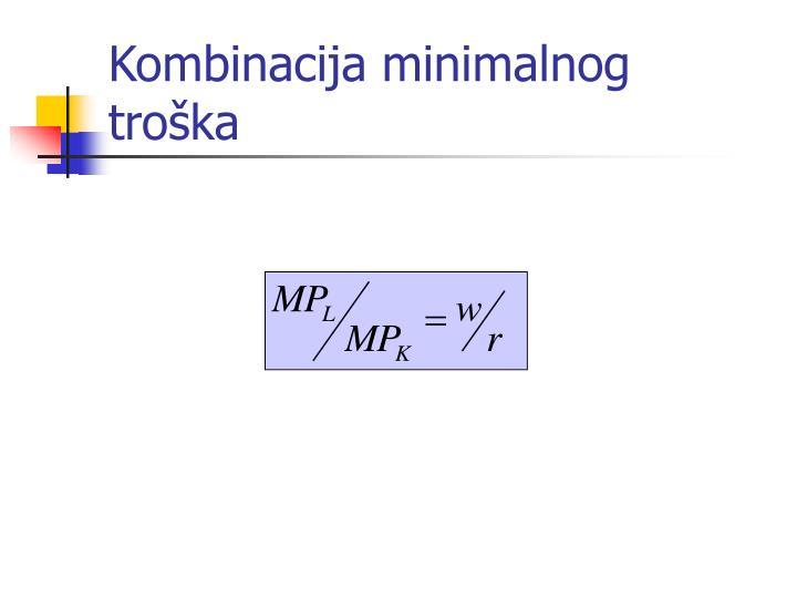 Kombinacija minimalnog troška