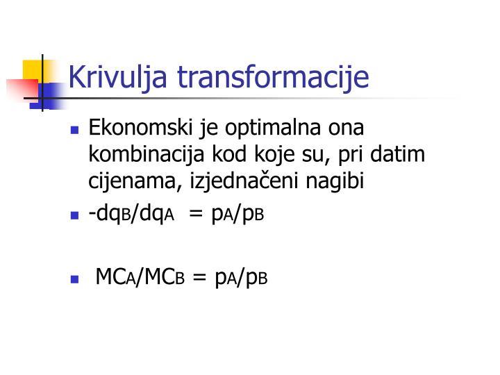 Krivulja transformacije