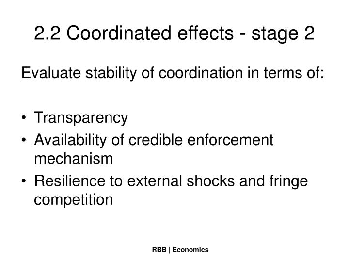 2.2 Coordinated effects - stage 2
