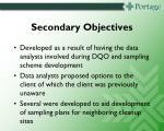 secondary objectives1