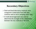 secondary objectives4