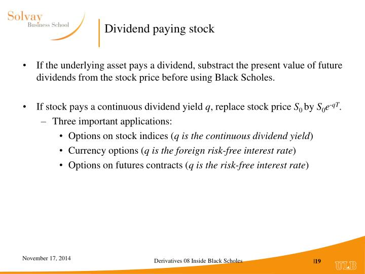 Dividend paying stock