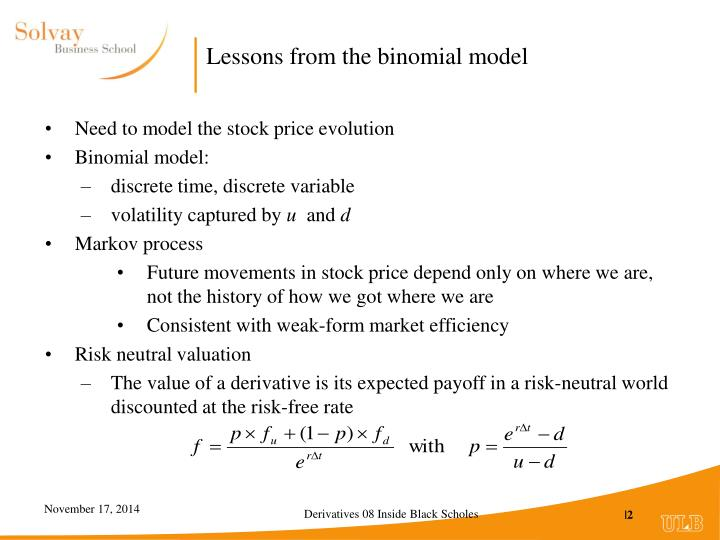 Lessons from the binomial model