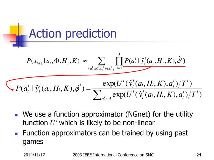Action prediction