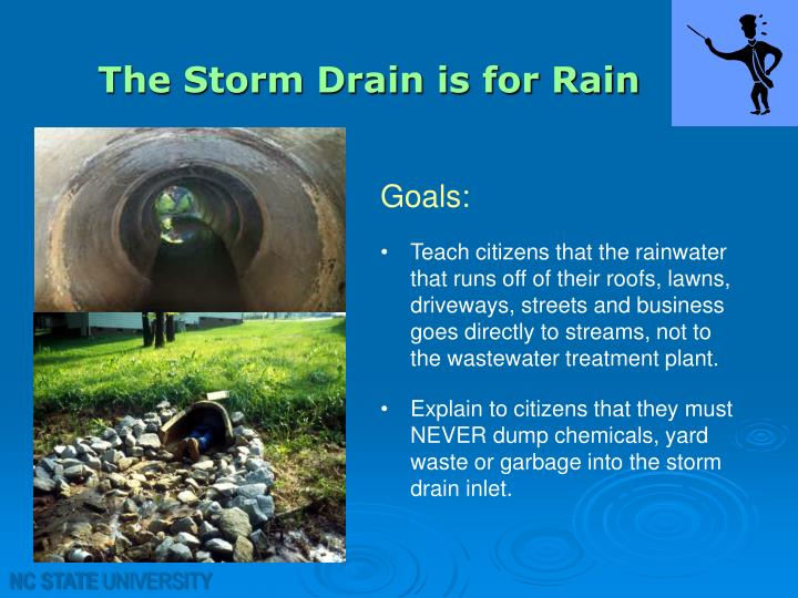 The Storm Drain is for Rain