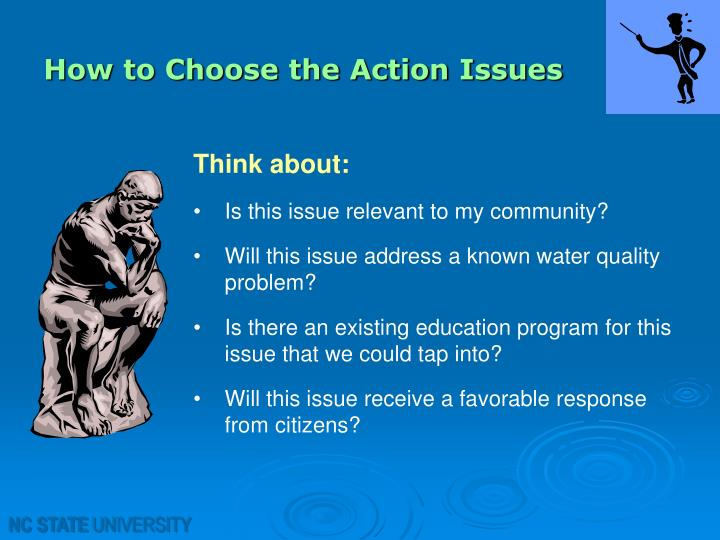 How to Choose the Action Issues