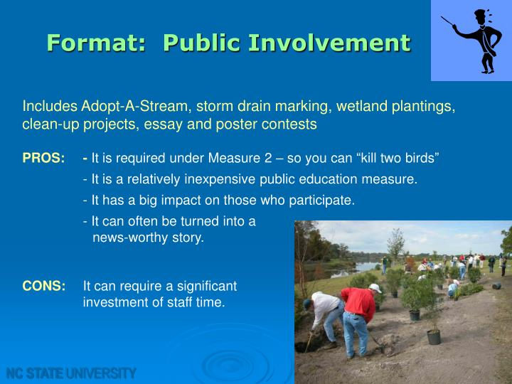 Format:  Public Involvement