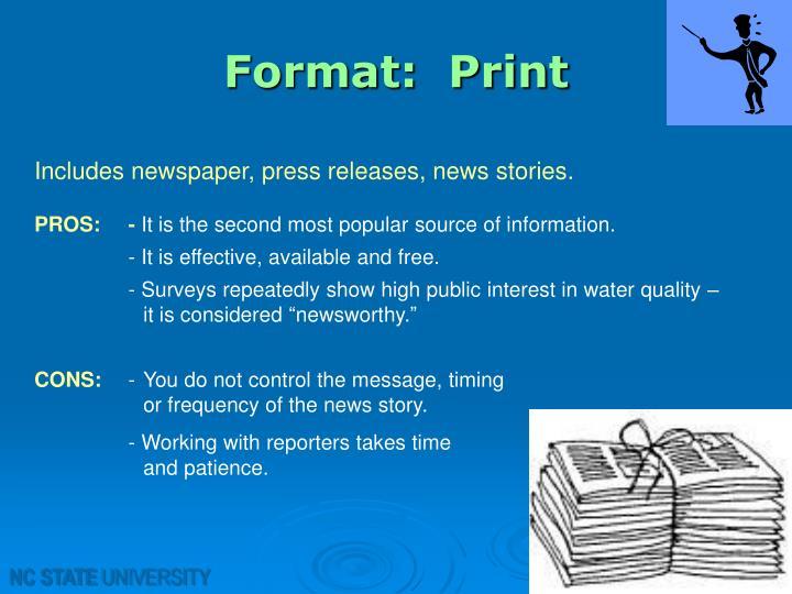 Format:  Print
