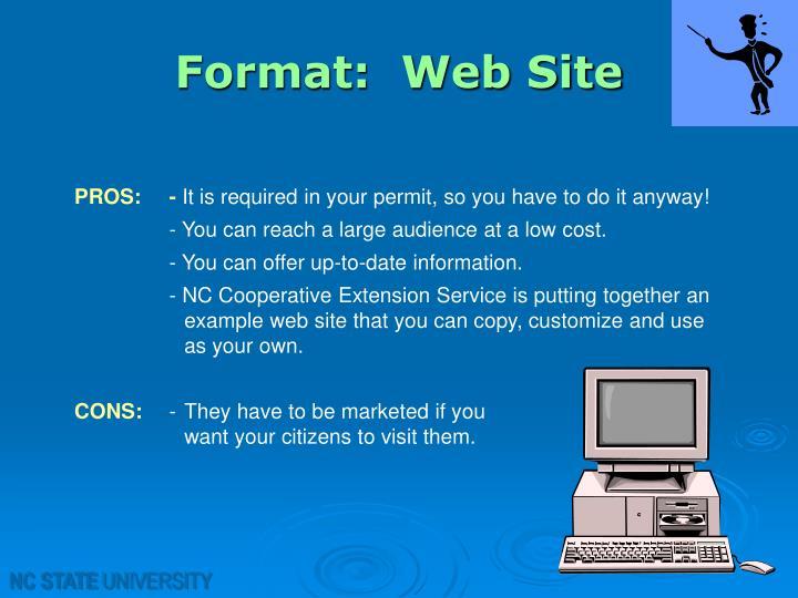 Format:  Web Site