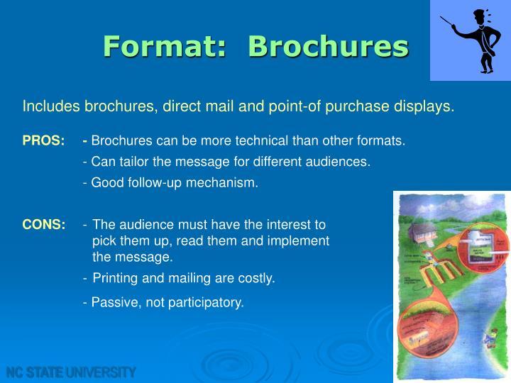 Format:  Brochures