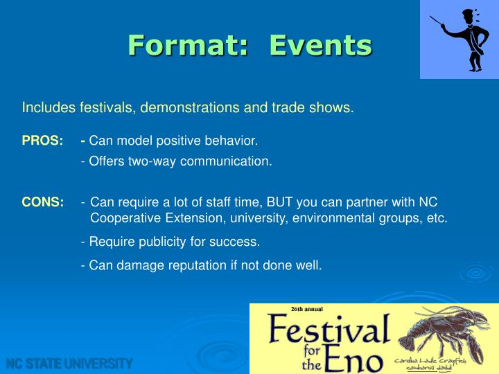Format:  Events
