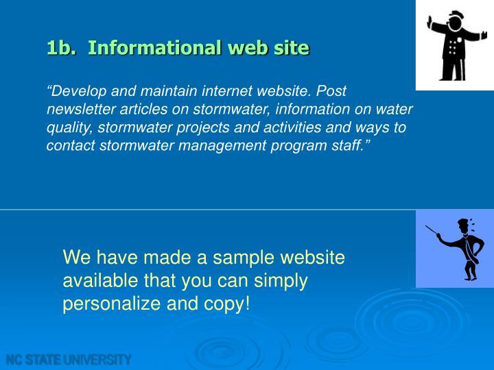 1b. Informational web site