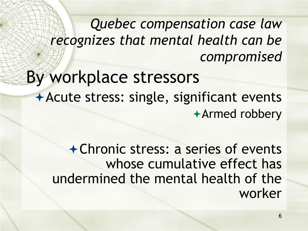 PPT - STRESS, PRECARIOUS EMPLOYMENT AND WORKERS ...
