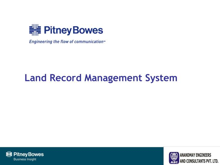 land record management system n.