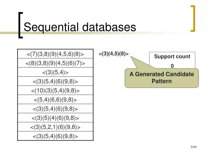 Sequential databases