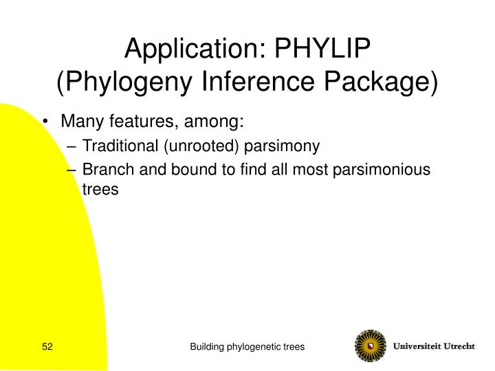 Application: PHYLIP