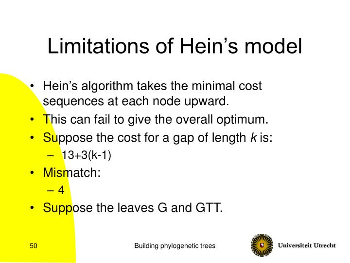 Limitations of Hein's model