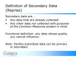 definition of secondary data reprise