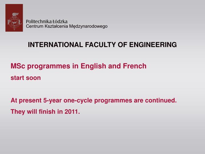INTERNATIONAL FACULTY OF ENGINEERING