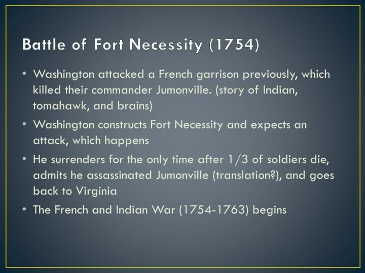 Battle of Fort Necessity (1754)