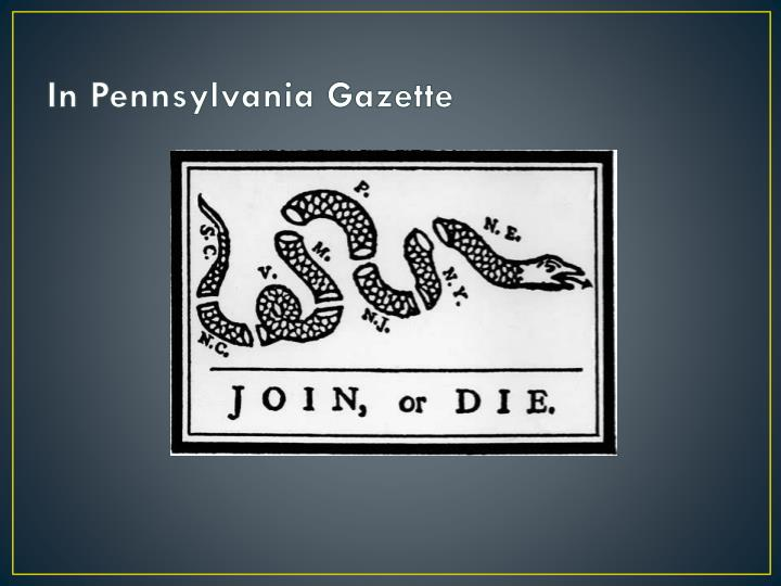 In Pennsylvania Gazette