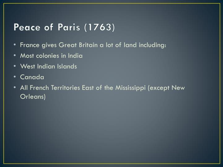 Peace of Paris (1763)