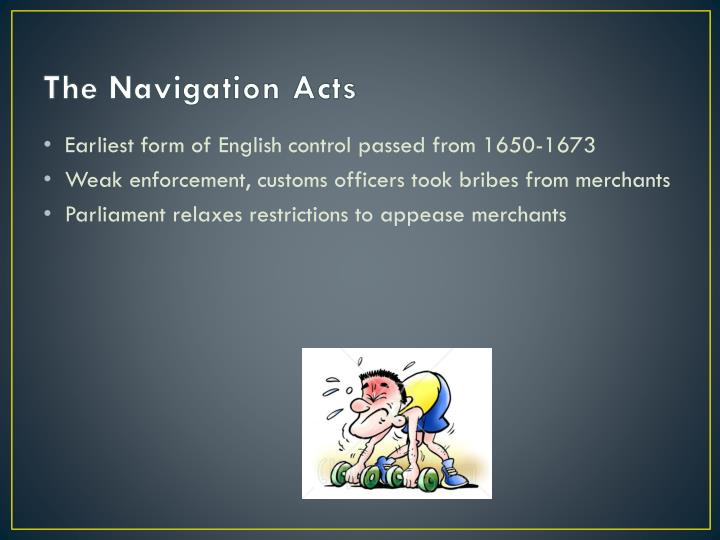 The navigation acts