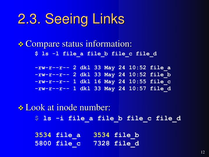 2.3. Seeing Links