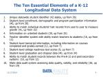 the ten essential elements of a k 12 longitudinal data system